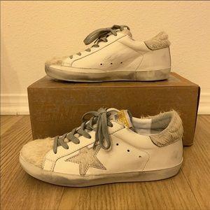 Golden Goose Superstar White Grey Silver Sneakers